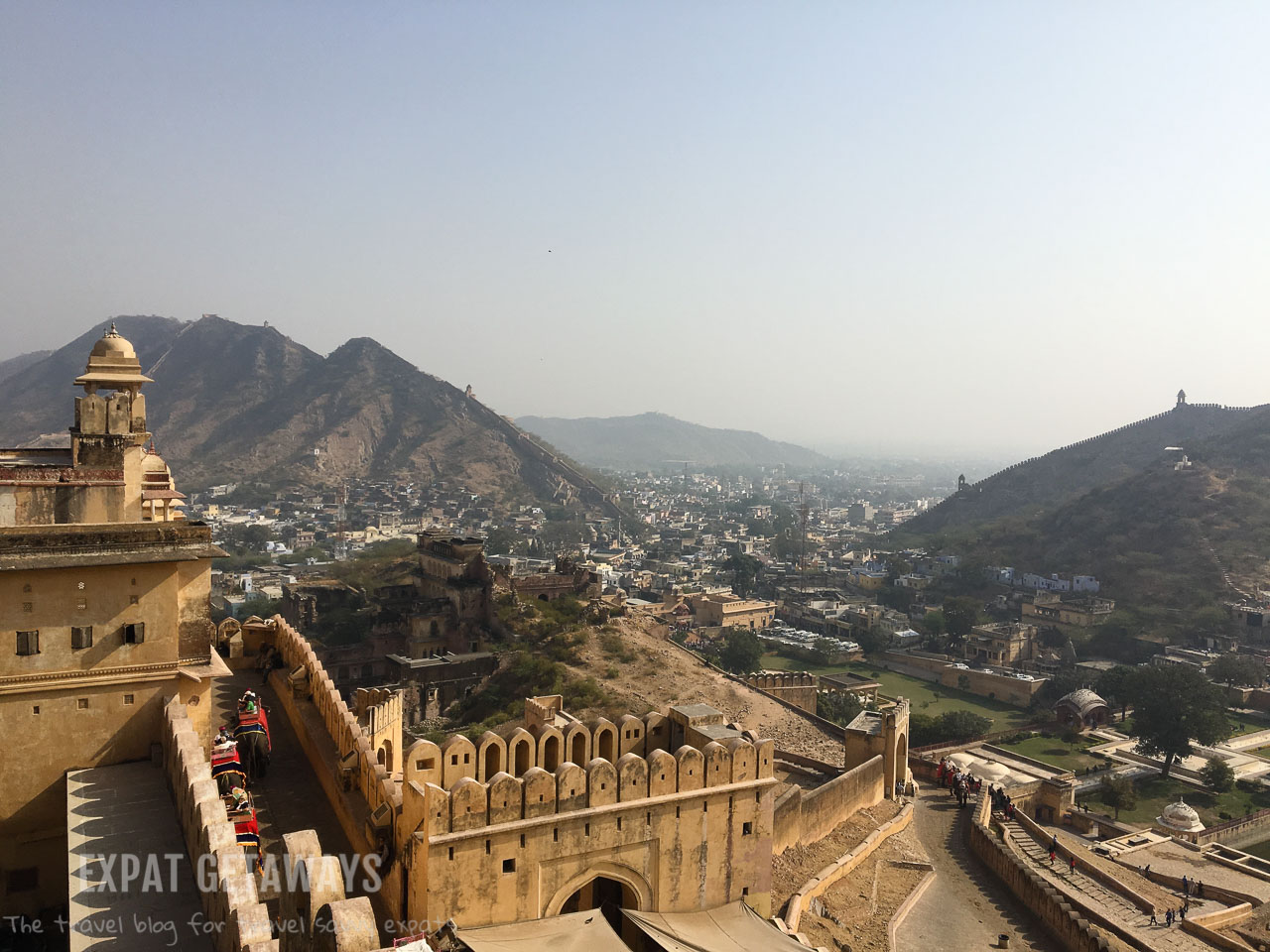 The Amber Fort, Jaipur was the highlight of our golden triangle tour. Expat Getaways, 5 Nights Golden Triangle, Delhi, Jaipur & Agra, India.