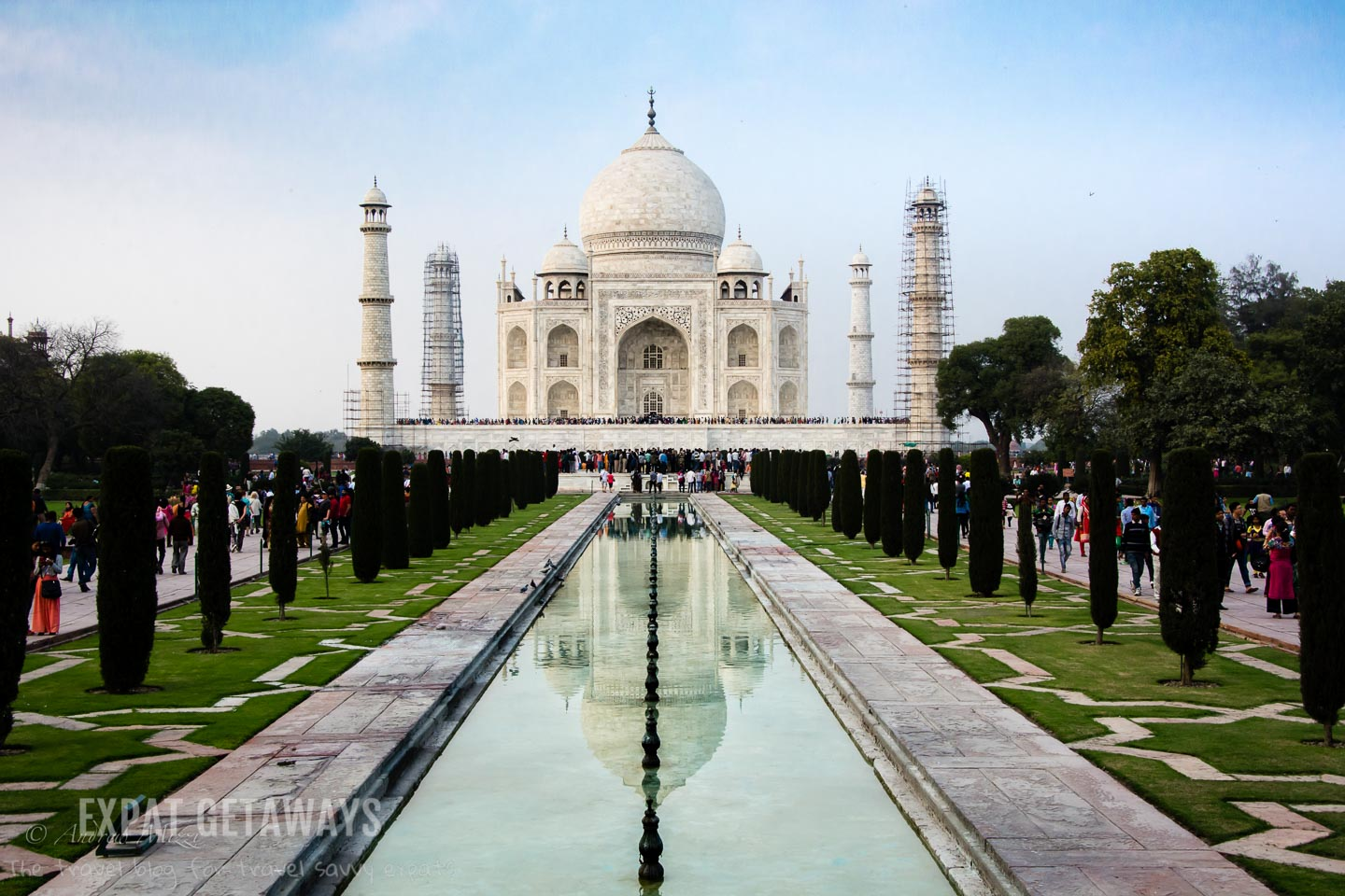 Another one off the bucket list. The Taj Mahal is even more amazing in person as it is in the photos. Expat Getaways, 5 Nights Golden Triangle, Delhi, Jaipur & Agra, India.