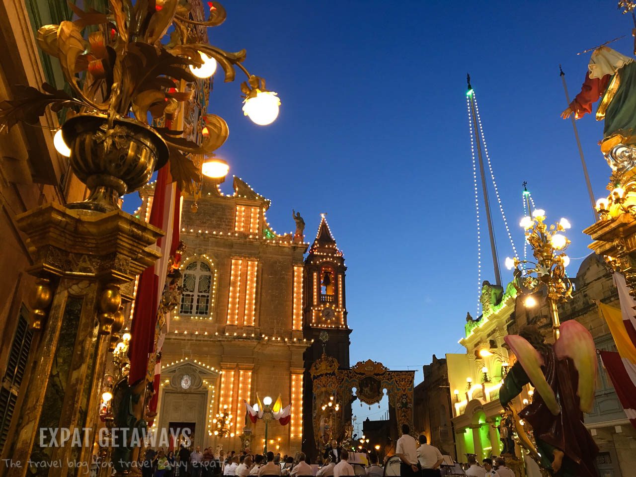 We stumbled on a festa in the town on Hal Gaxaq, Malta.