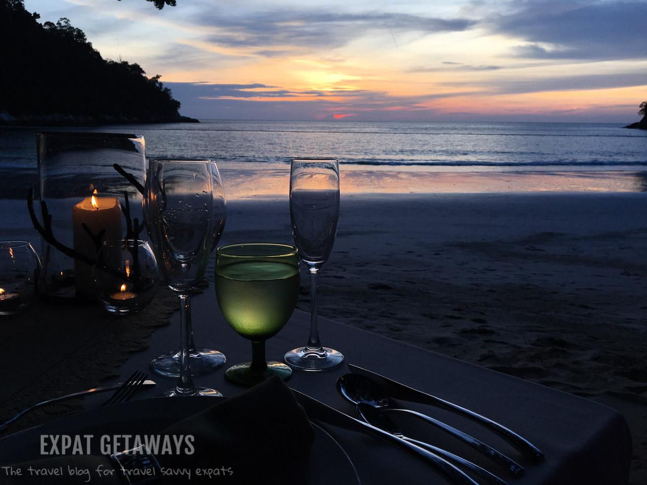 Private dining at Pangkor Laut Resort