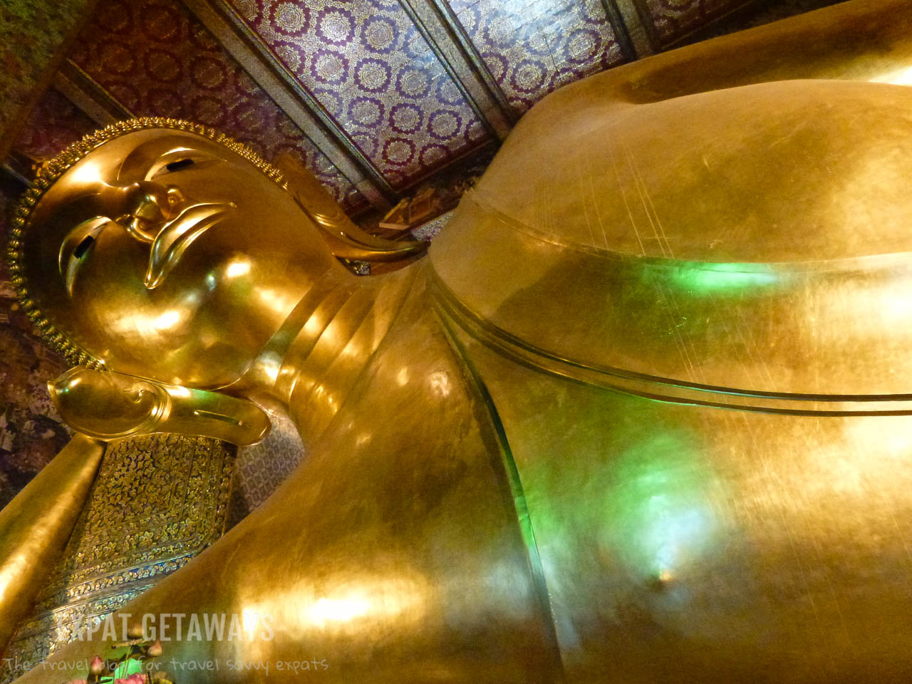 The reclining Buddha is a spectacular sight.