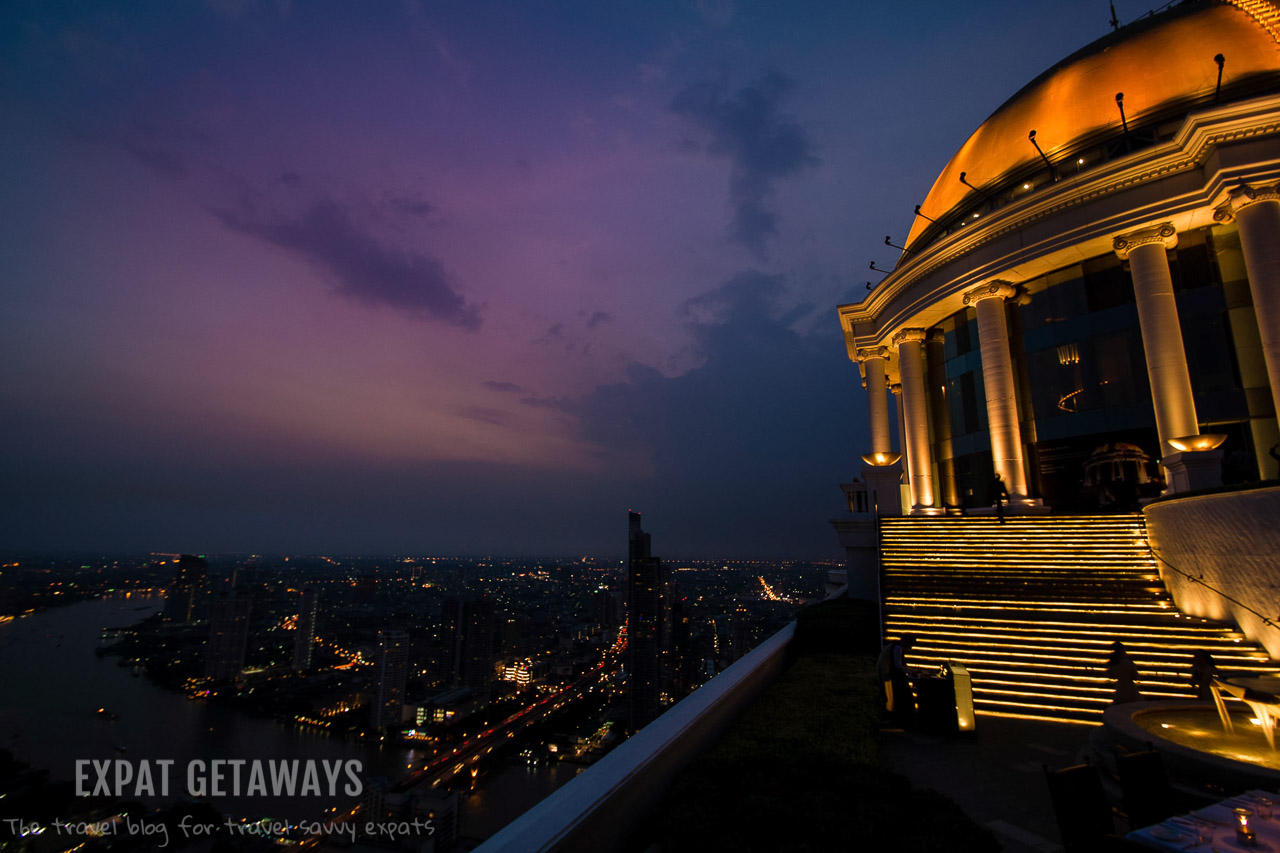 The Sky Bar at Lebua State Tower is the perfect place for a rooftop cocktail above Bangkok.
