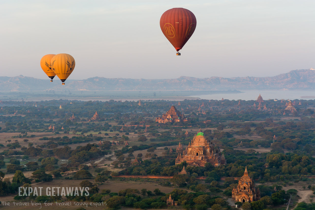 The dry winter provides the most consistent weather for ballooning in Bagan.