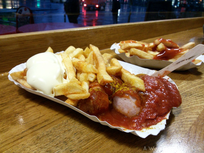A favourite on the Berlin food tour was the classic German curryworst.