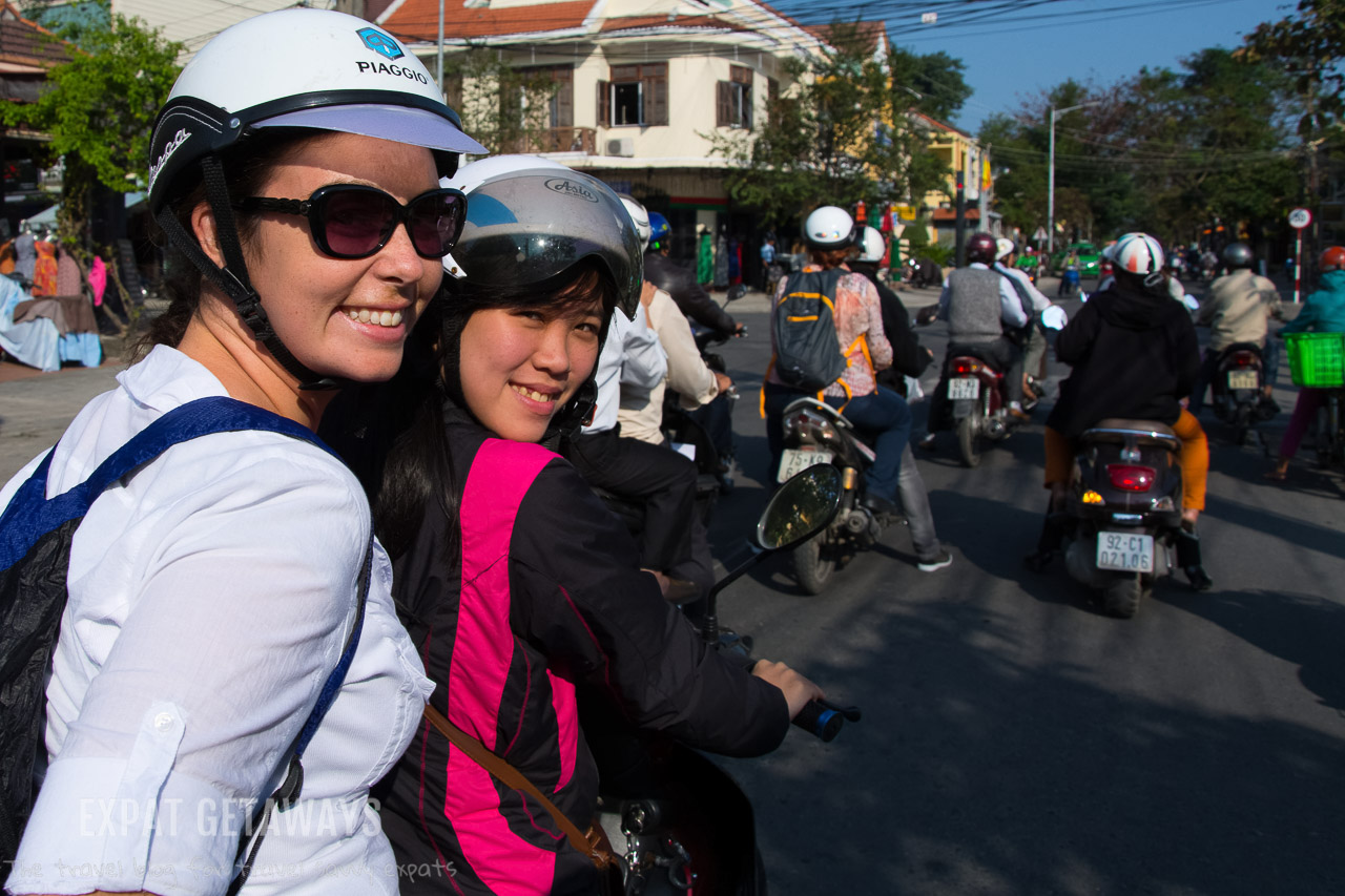 A food tour with a difference. We explored the Hoi An food scene from the back of a motorbike!