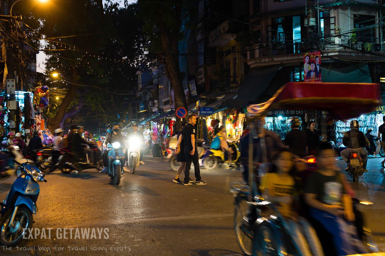 The buzzing Old Quarter of Hanoi, Vietnam.