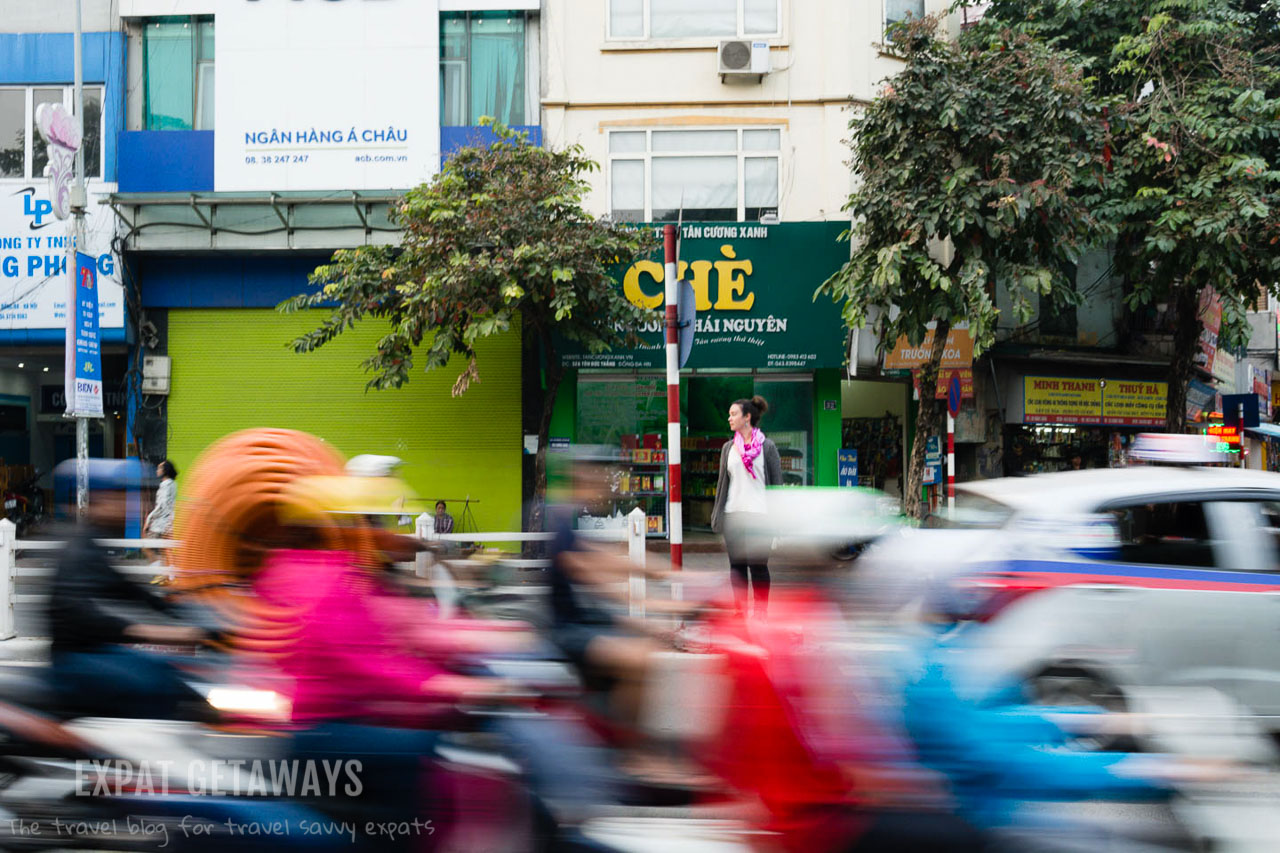 Learning to cross the road in Hanoi is a bit of an art form.