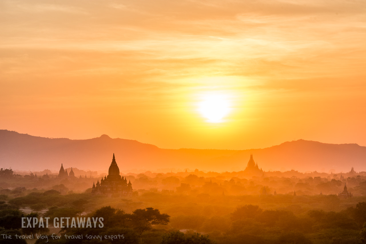 Sunrise over Pagodas and Temples in Bagan, Myanmar. Shot from Lowka Ou Shaung. andrewmizziphotography.com Follow my latest updates on Fb.com/andrewmizziphoto | Instagr.am/and.miz