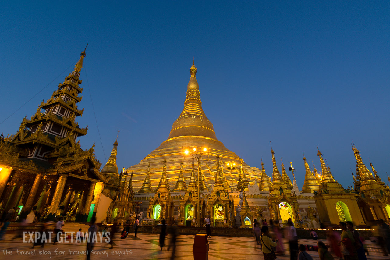 Blue hour at the Shwedagon Pagoda in Yangon, Myanmar. andrewmizziphotography.com Follow my latest updates on Fb.com/andrewmizziphoto | Instagr.am/and.miz