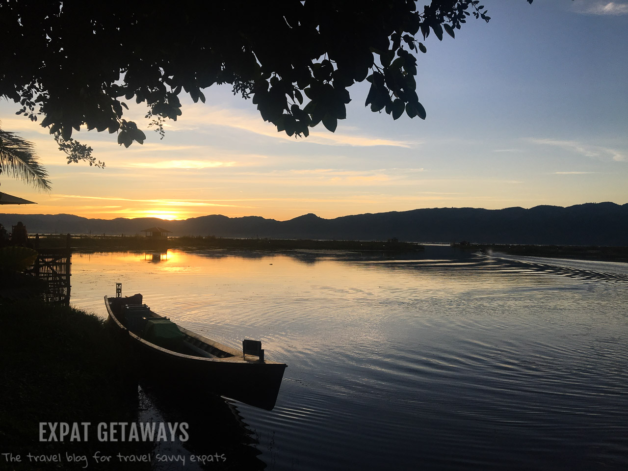 Sunsets over Inle Lake Resort, Myanmar