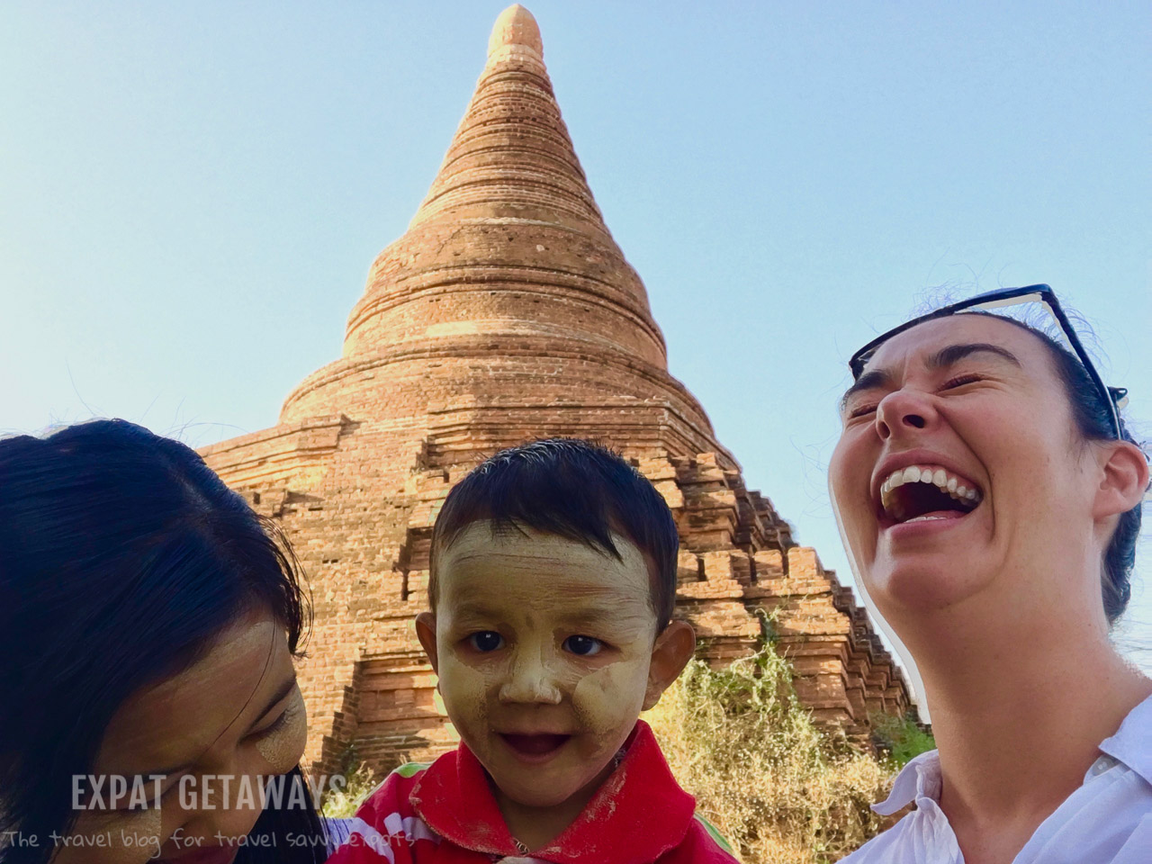 When the locals discover your selfie stick. Bagan, Myanmar.