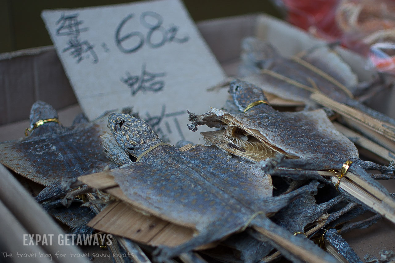 Dried geckos are used in traditional Chinese medicine.