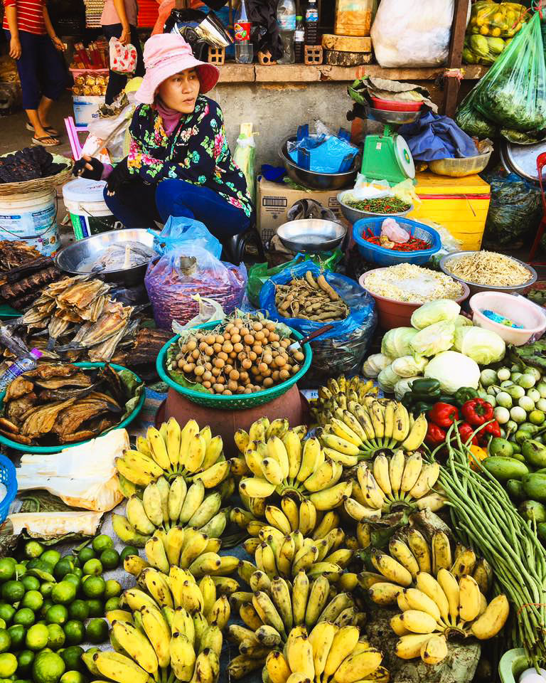 A visit to the local market in Battambang is a must!