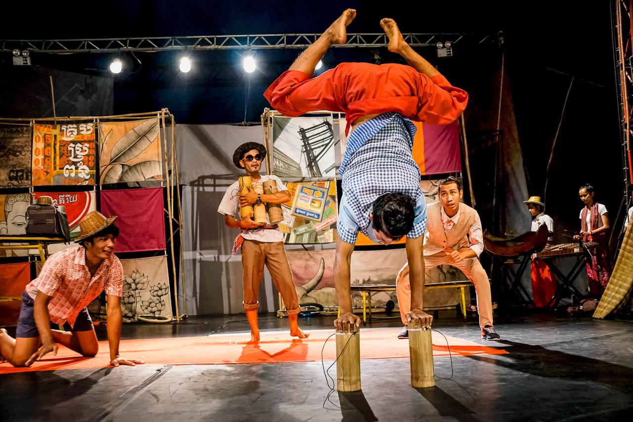 Amazing acrobatics at the Phare Ponleu Selpak circus in Battambang, Cambodia.