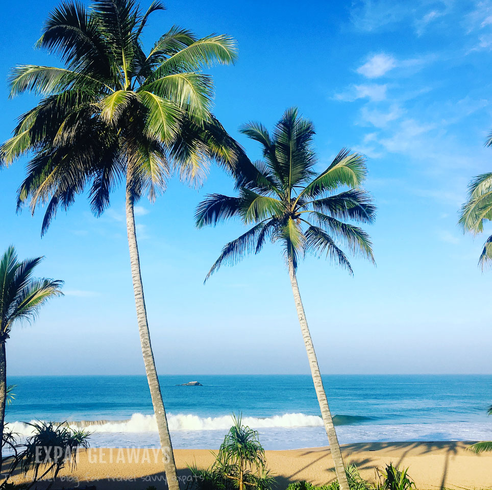 The gorgeous view of the beach in Sri Lanka.