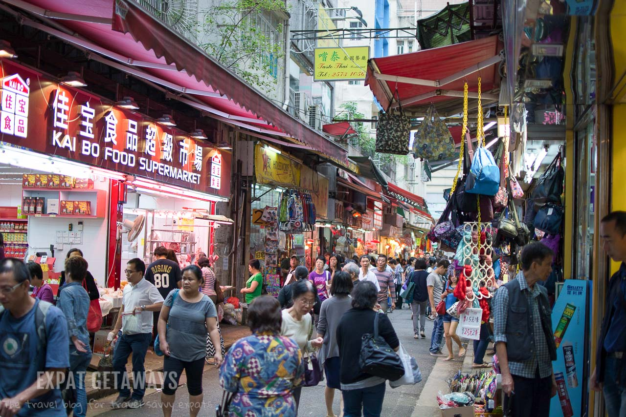 The lanes of Wan Chai are a great place to shop for a bargain.
