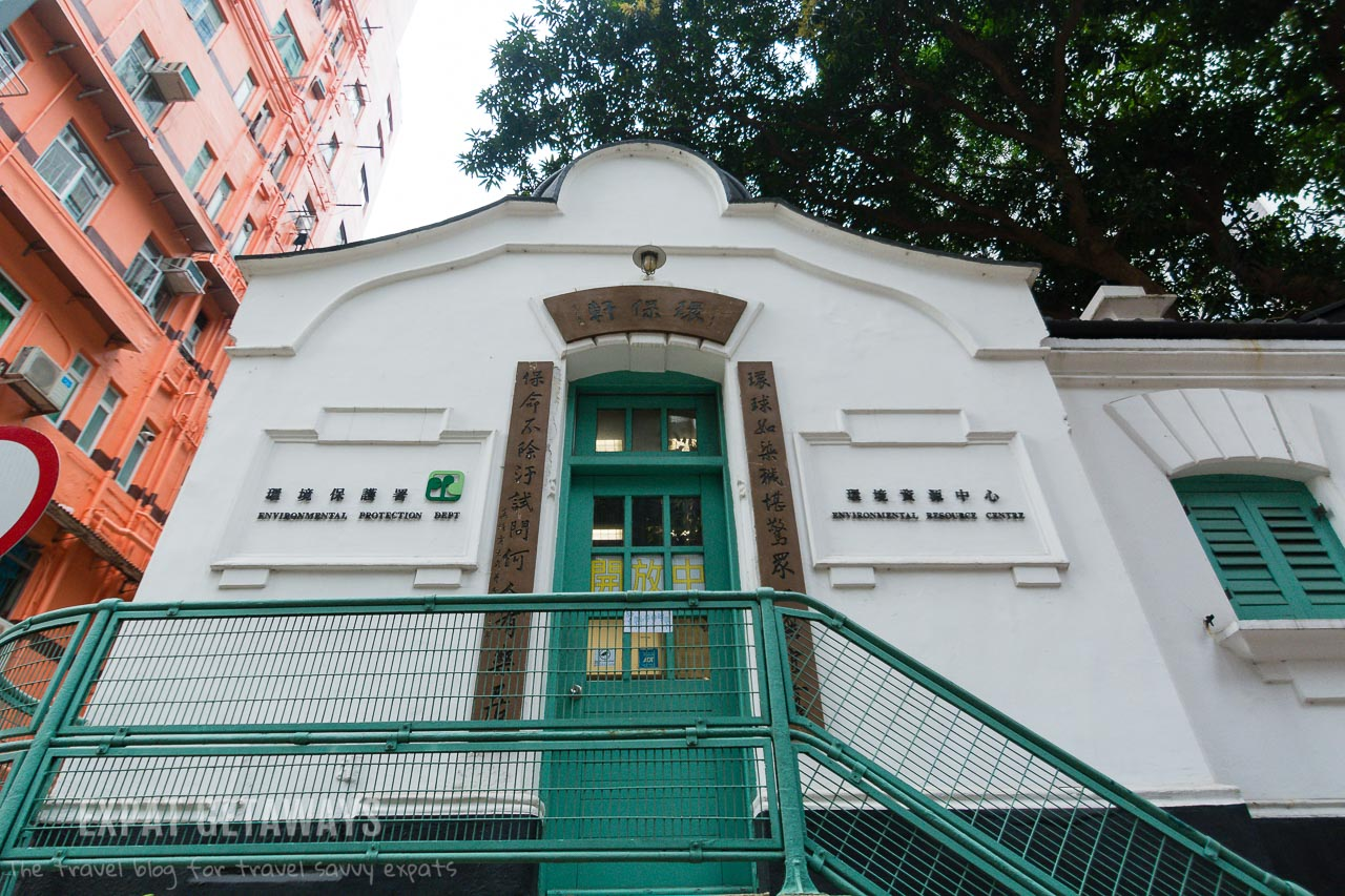 The Old Wan Chai Post Office on Queens Road East is a heritage listed building.