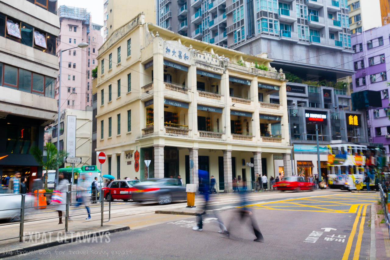 The Pawn in Wan Chai is a restored tong lau from the 1920s. Thankfully a few relics like this have survived in the 21st Century.