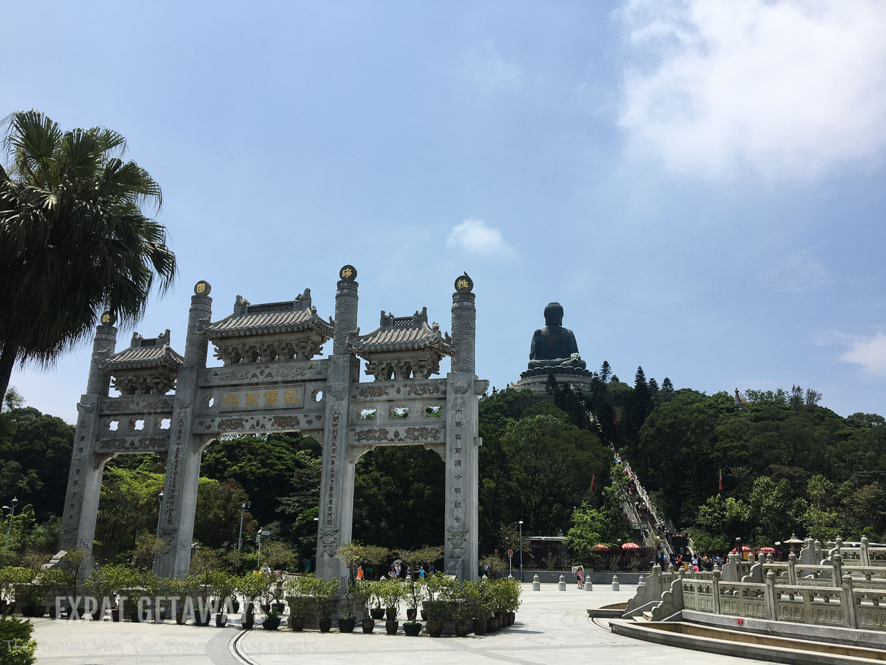 The Tan Tian Big Buddha and nearby Po Lin Monastery are best visited on a clear day in Hong Kong.