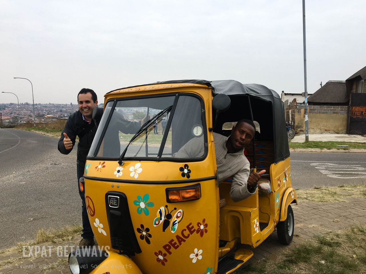 It was great fun zipping around the sights of Soweto on a colourful tuk tuk with our local guide. Expat Getaways Two Weeks in Southern Africa.
