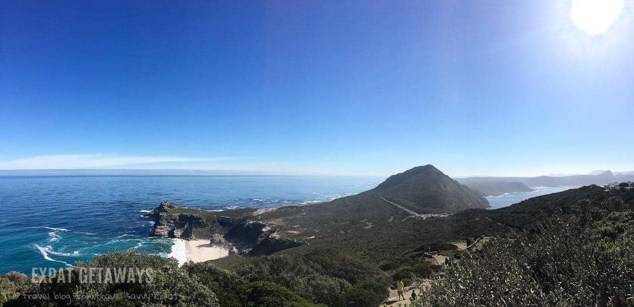 Looking up the Cape of Good Hope Peninsula, where the Indian Ocean meets the Atlantic. Expat Getaways One Week in Cape Town, South Africa.