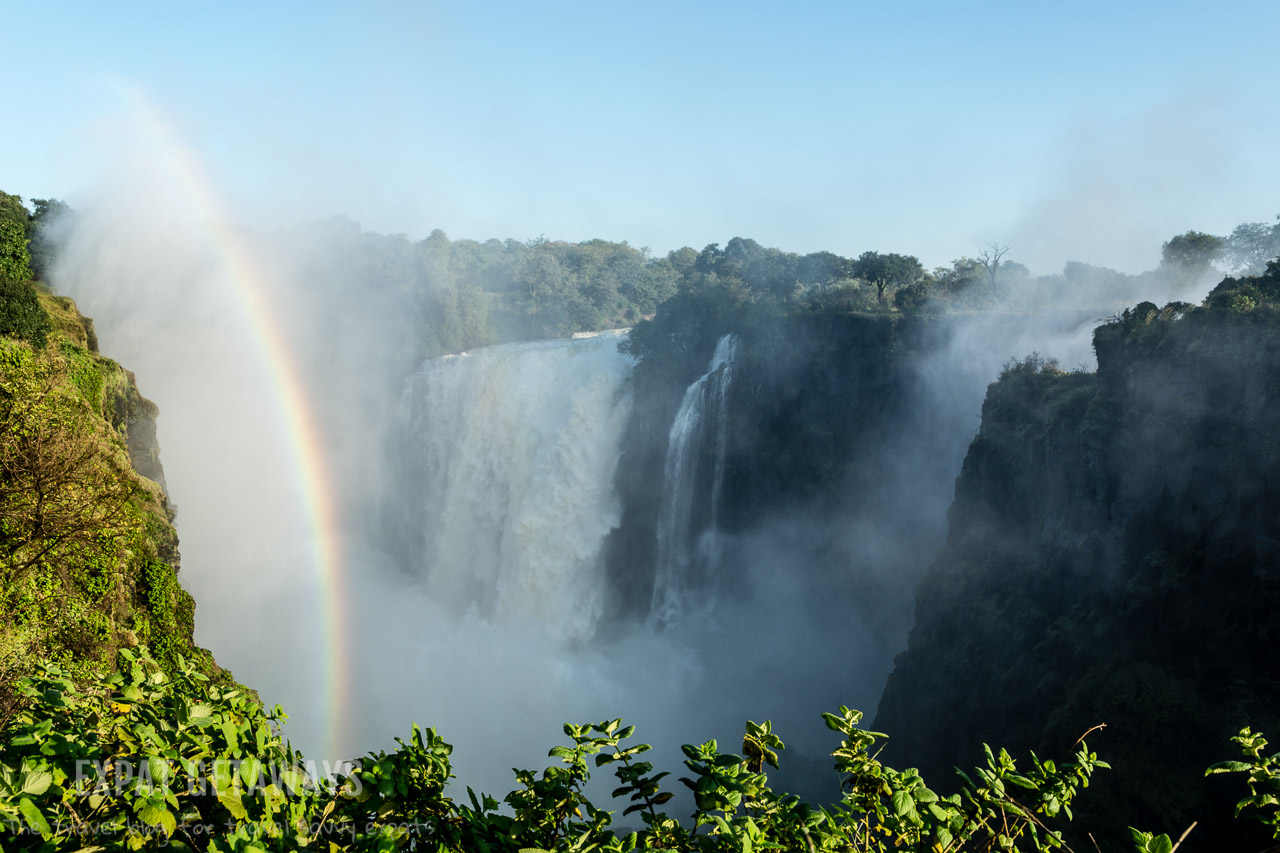 There are vantage points for photography all along Victoria Falls in Zimbabwe and Zambia. Pick your favourite and watch the rainbows. Expat Getaways 2 Weeks in Southern Africa.