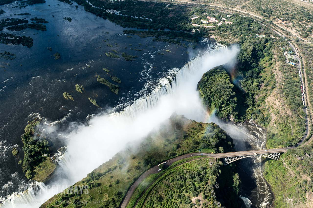 You must take to the air to fully appreciate the enormity of Victoria Falls in Zimbabwe and Zambia. Expat Getaways 2 Weeks in Southern Africa.