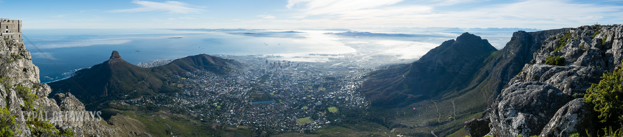 Table Mountain on a clear day gives you views of the city, Robben Island, Lion's Head and beyond. Expat Getaways One Week in Cape Town.