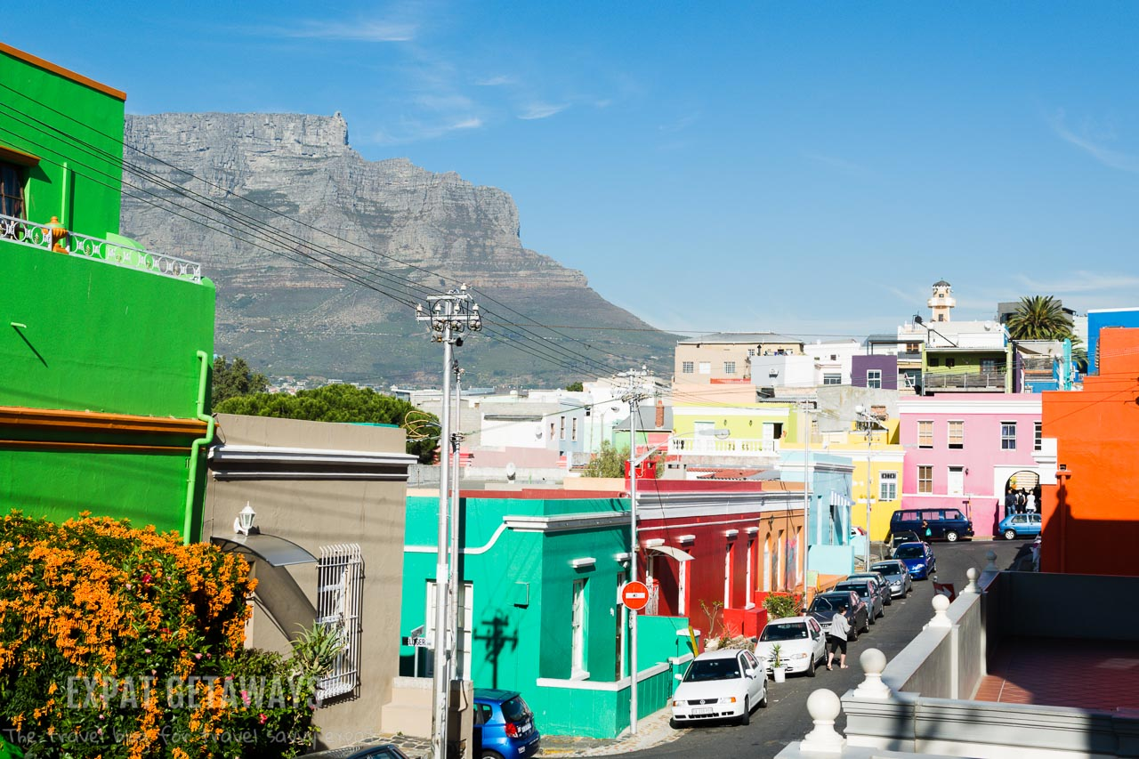 The colourful neighbourhood of Bo Kaap is the place to go for colourful houses and an insight into the unique Cape Malay culture of Cape Town. Expat Getaways One Week in Cape Town.