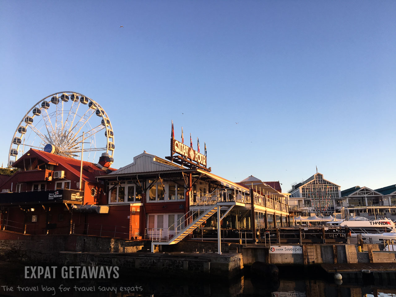 The lively V & A Waterfront is a magnet for tourists with good restaurants and lots of shopping. Expat Getaways One Week in Cape Town, South Africa.