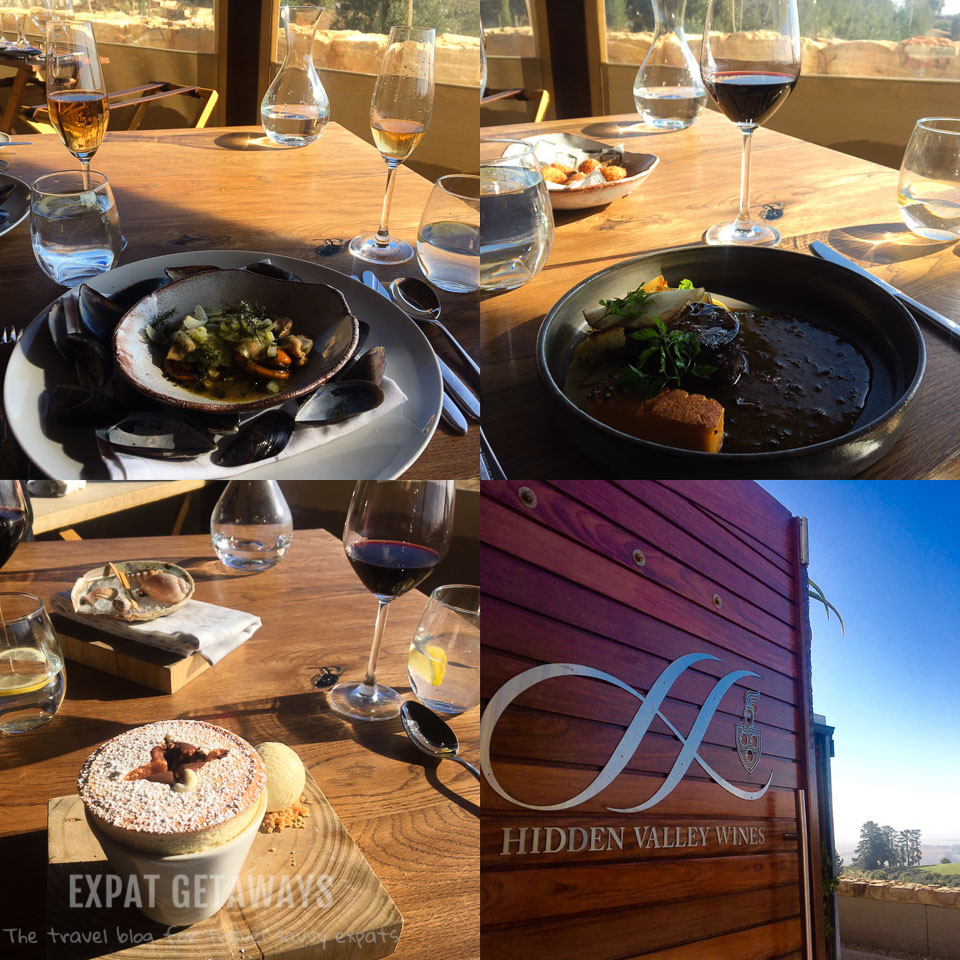 It isn't all about the wine in Stellenbosch, there is great food too! Fabulous local food and wine with great views to match. Overture Restaurant at Hidden Valley Wines, Stellenbosch. Expat Getaways One Week in Cape Town, South Africa.