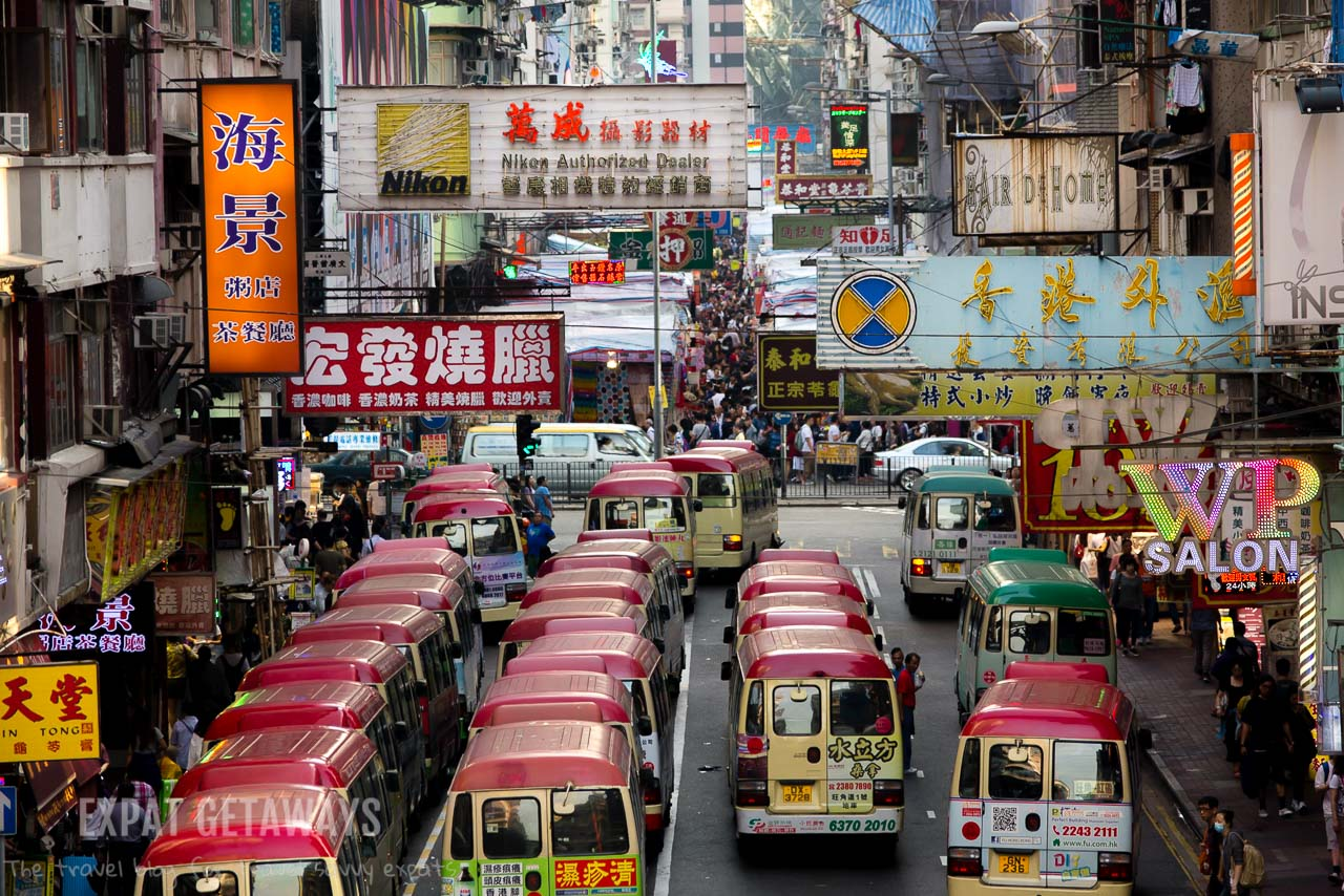 The red minibuses in Hong Kong are like race cars! Do not get in their way! Expat Getaways, First Time Hong Kong Survival Guide - Public Transport.