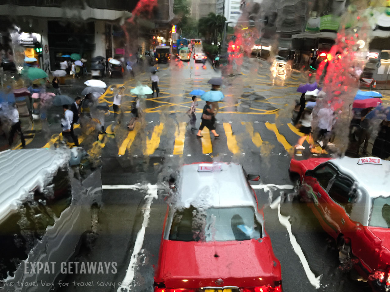 When it rains it pours! Heavy downpours are common in the Hong Kong wet season or summer. Expat Getaways, First Time Hong Kong Survival Guide - Weather and Seasons.