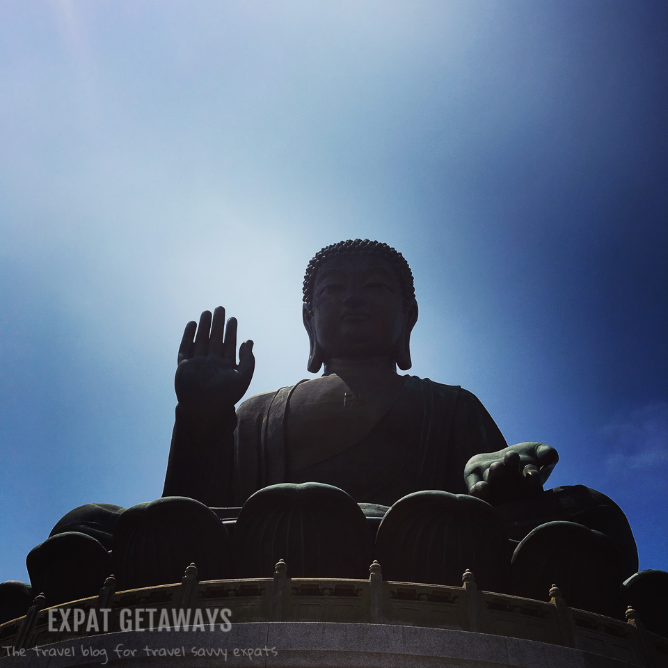 The Tan Tian Big Buddha on a clear day. Expat Getaways, First Time Hong Kong Survival Guide - weather and seasons.