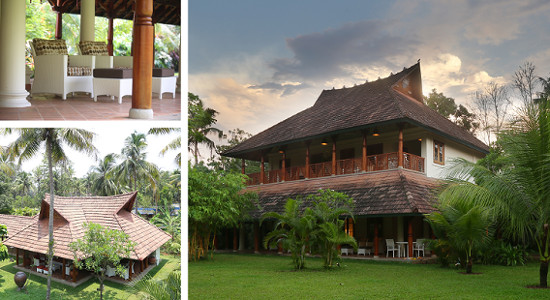 Indian Summer House, Kerala, India.