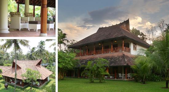 Indian Summer House, Kerala, India.