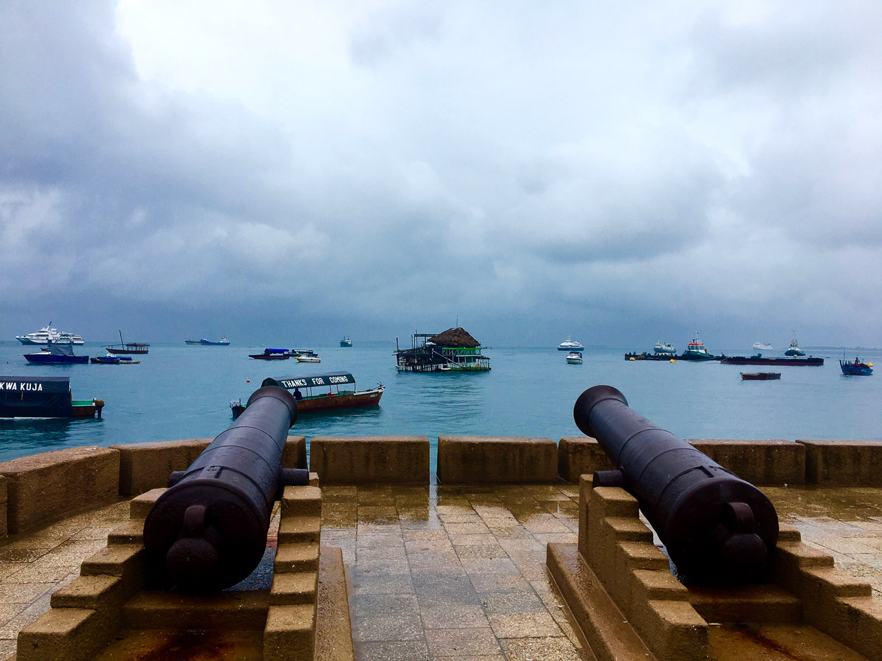 The canons on the waterfront of Stone Town are a reminder of the colonial history of Zanzibar. Expat Getaways - One Day in Stone Town, Zanzibar, Tanzania.
