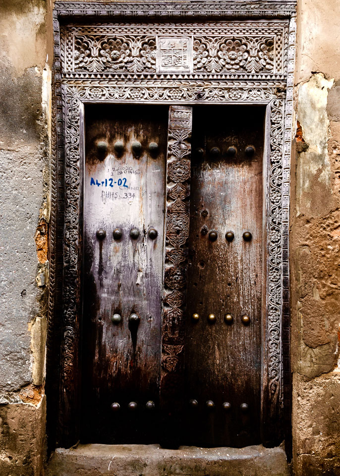 I love the doors of Stone Town. The streets are a maze with surprises at every turn. Expat Getaways - One Day in Stone Town, Zanzibar, Tanzania.