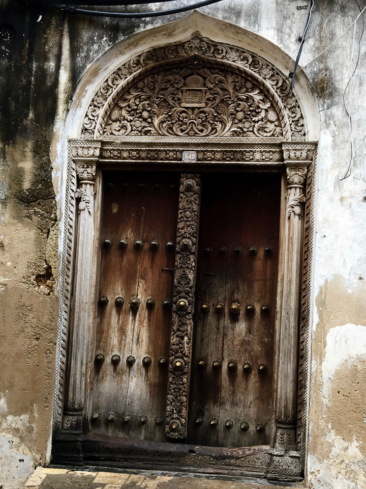 The ornate doorways of Stone Town, Zanzibar. A photographers dream! Expat Getaways - One Day in Stone Town, Zanzibar, Tanzania.