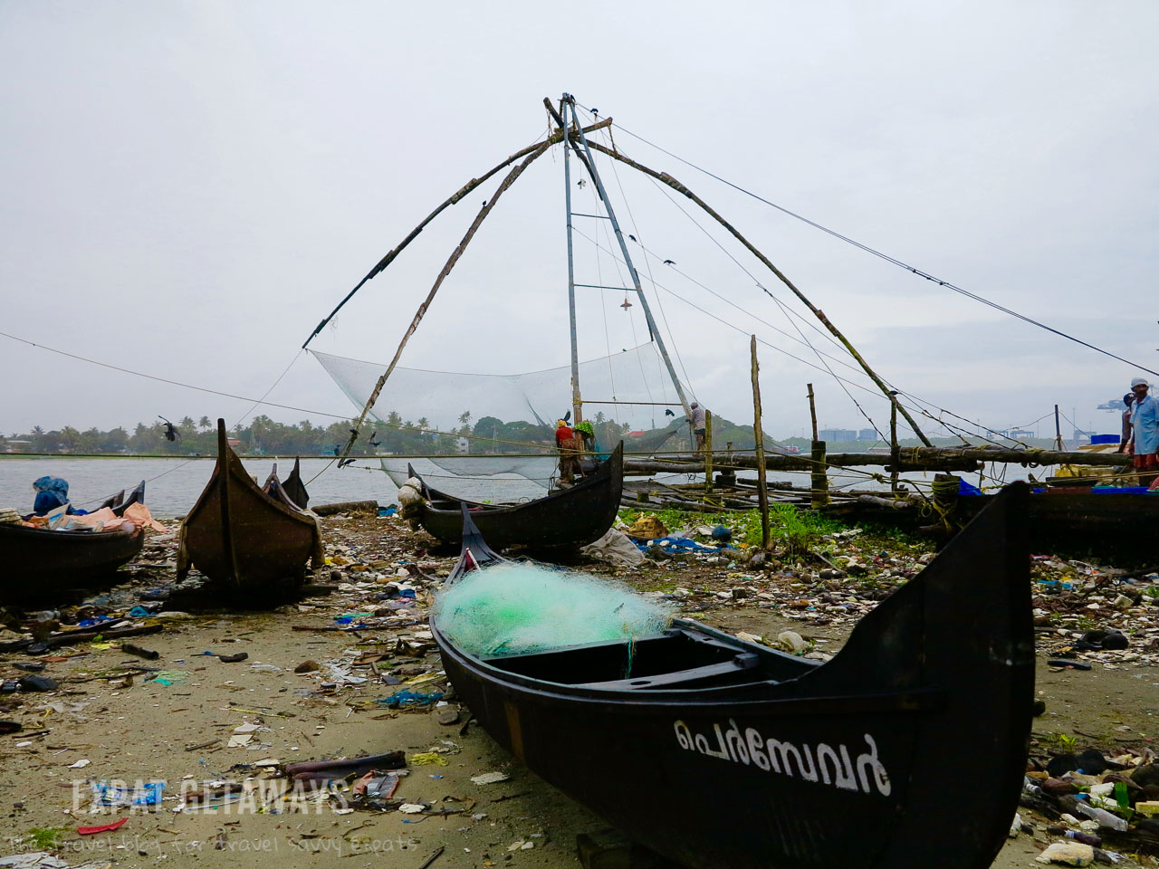 The Chinese fishing nets of Fort Kochi are one of the must see stops on the waterfront. Expat Getaways - One Week in Kerala, India.