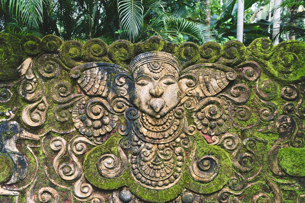 The gardens of Indian Summer House have a distinctive Balinese feel to them. Expat Getaways - One Week in Kerala, India.
