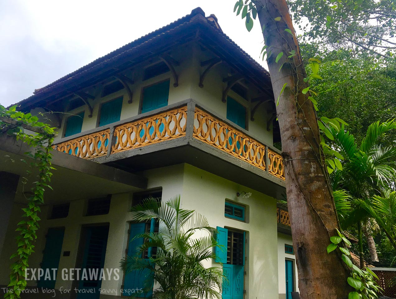 The original family home at Indian Summer House. Expat Getaways - One Week in Kerala, India.
