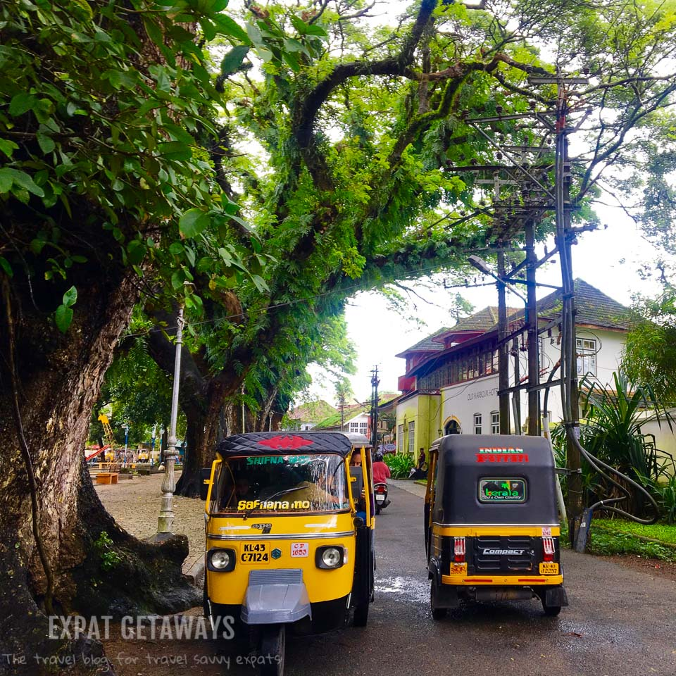 It wouldn't be India without tuk tuks! Expat Getaways - One Week in Kerala, India.