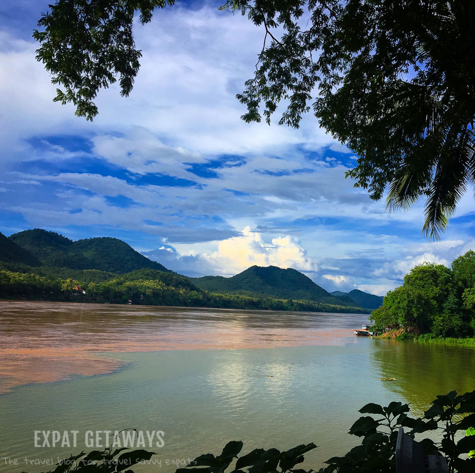 Where the Mekong and Nam Khan Rivers meet. Luang Prabang, Laos. Expat Getaways, 48 Hours in Luang Prabang, Laos.